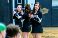 BSHS Cheer at Snyder Basketball Games, 1/23/2018
